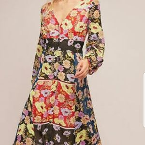 Anthropologie Multi colored floral dress